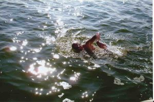 Stephen Jepson swimming in Florida springs